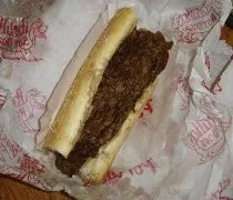 A Chicago-style Italian Beef from Portillos Hot Dogs in Oak Lawn, IL
