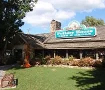 The Pottery House Cafe & Grill on Old Mill Street in Pigeon Forge, TN