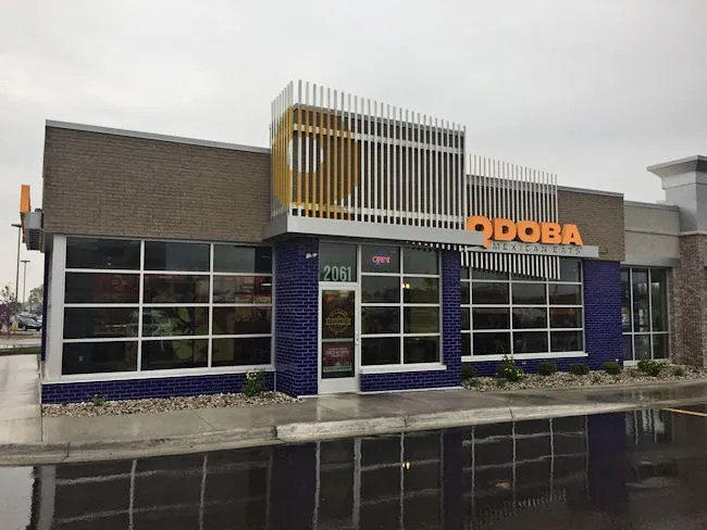 This is the first store in the area that was built under the new branding   In late 2015  Qdoba started a massive rebranding effort that changed the  name. Qdoba Mexican Eats  Stadium   Drake  Kalamazoo    SW Michigan Dining