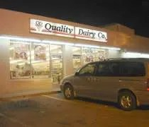 The Quality Dairy on Saginaw Street at Cedar Street in Lansing.