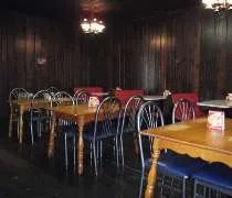 The original dining room, but with newer chairs.