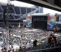 The stage set up at Soldier Field