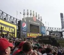 The famous Exploding Scoreboard at US Cellular Field.