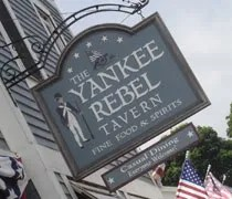 The Yankee Rebel Tavern on Astor Street on Mackinac Island.