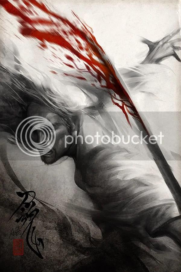 Samurai sangue Splatter