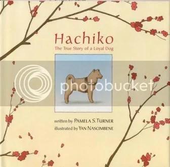 Imagem de um dos livros - A história de Hachiko rendeu muitos livros.