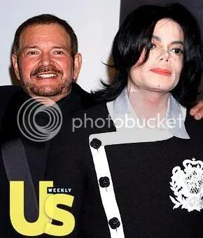 Michael Jackson e o Dr. Arnold Klein juntos na revista US Weekly