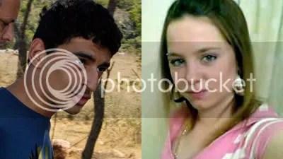 Foto do assassino Mohammed e da vitima Cara Marie Burke