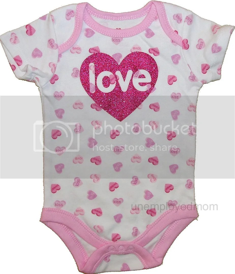Valentines Day 1st Outfit Holiday Heart Bodysuit Shirt