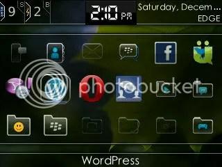 Icon WordPress for BlackBerry
