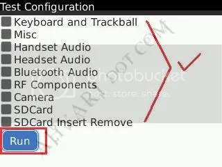 BlackBerry Test Menu