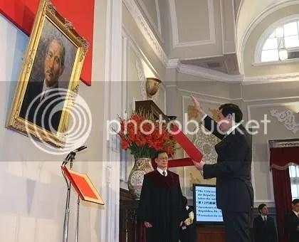 總統當選人馬英九先生宣誓就任中華民國第12任總統
