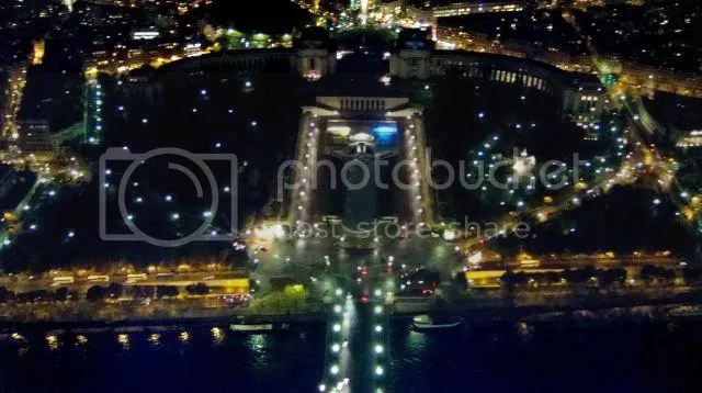 Nightscape from Eiffel Tower