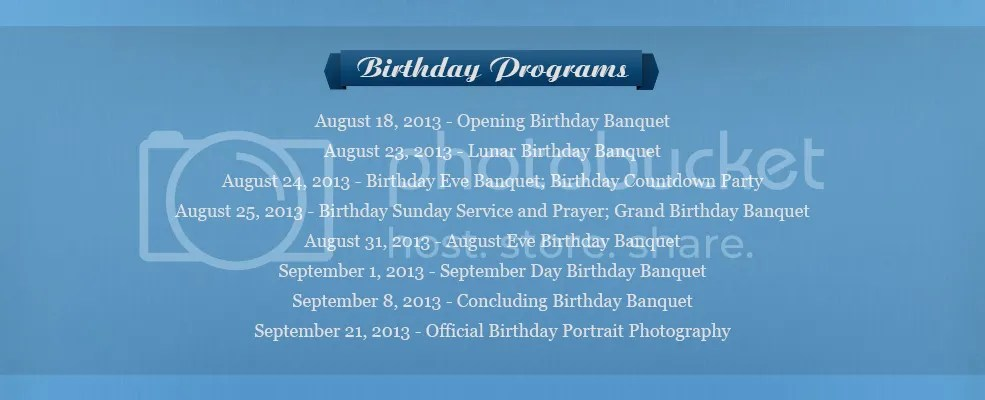 Birthday Programs