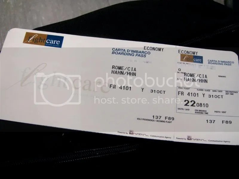 Air Ticket 20081031 - Rome-Hahn