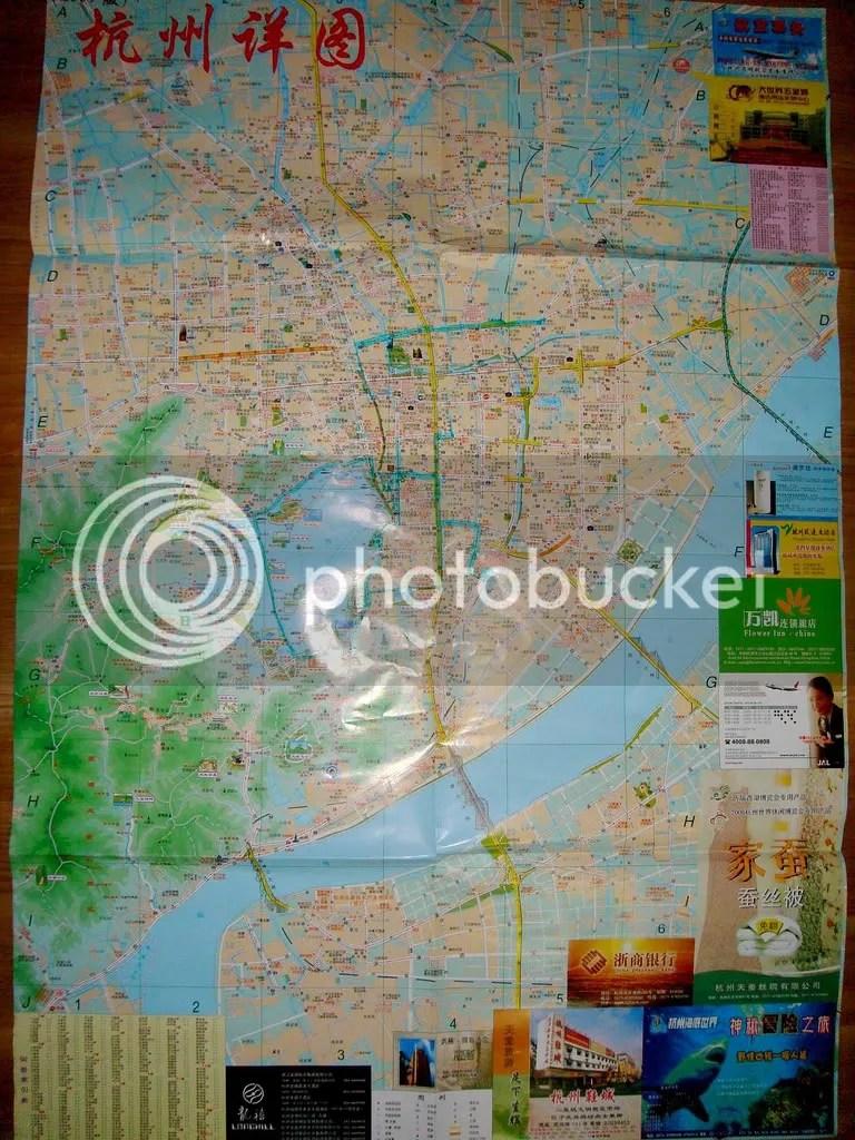 Map of Hangchow 2009