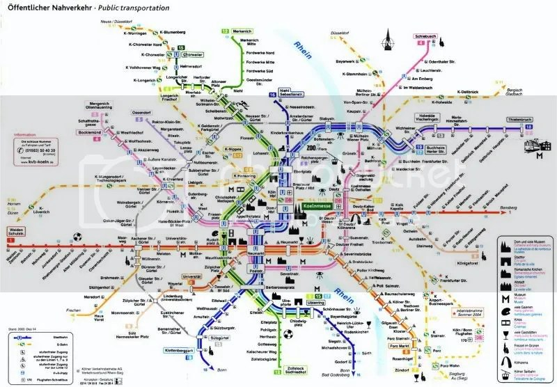 Map of Subway System - Cologne