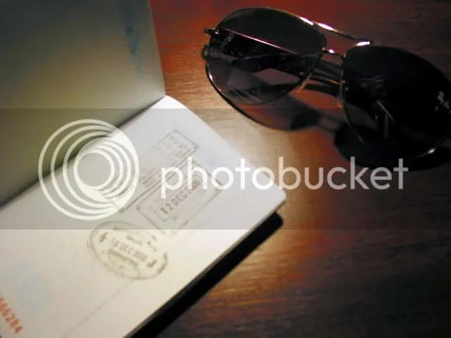 My SAR Passport and Sunglasses