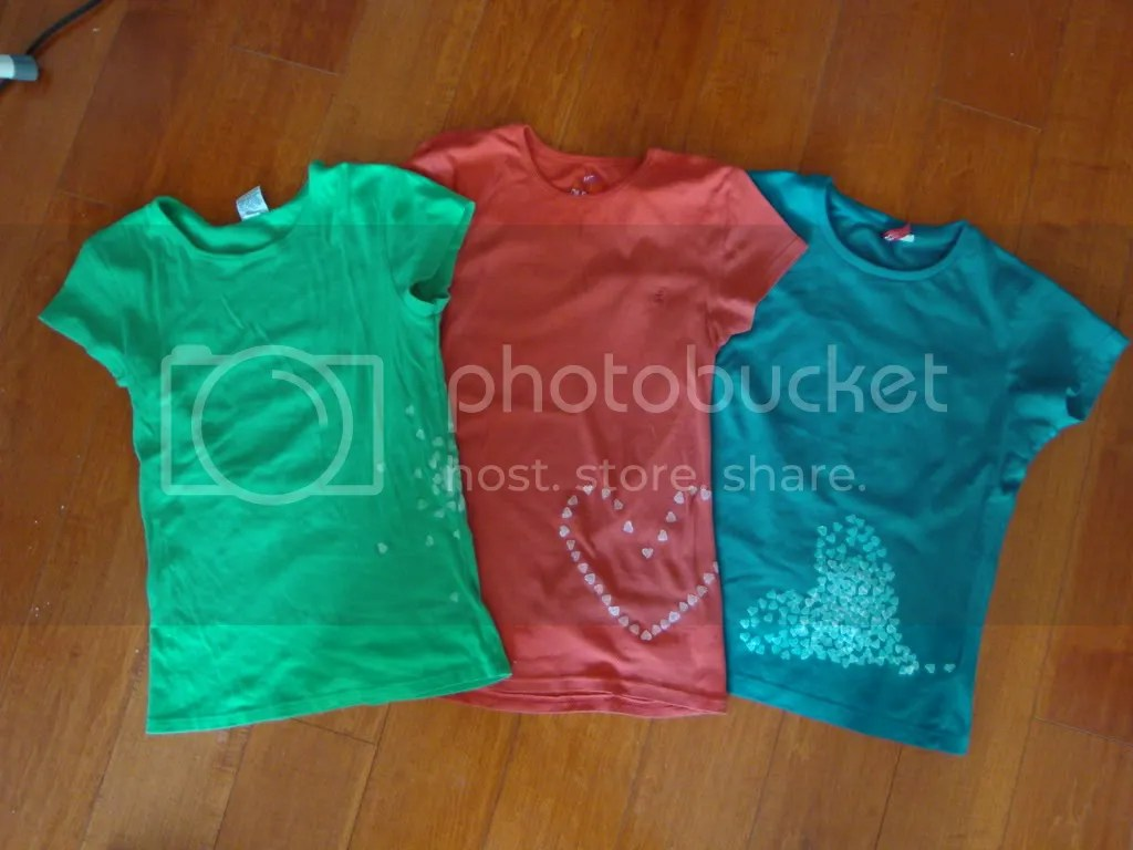 hole punch stencil t-shirts