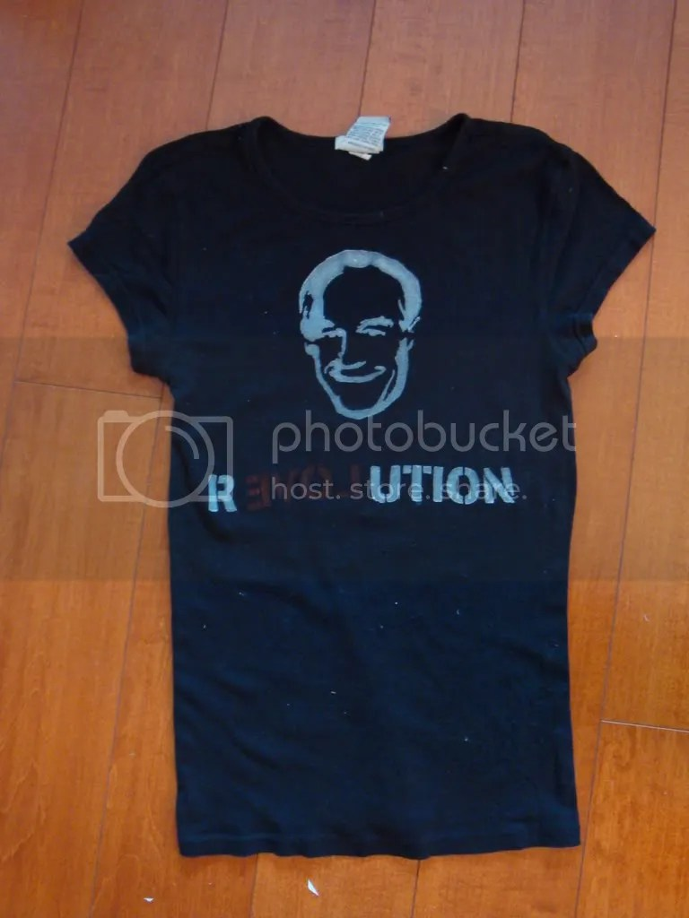 ron paul campaign t-shirt stencils