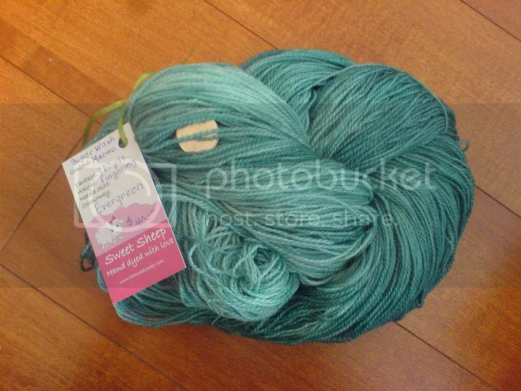 sweet sheep superwash merino evergreen