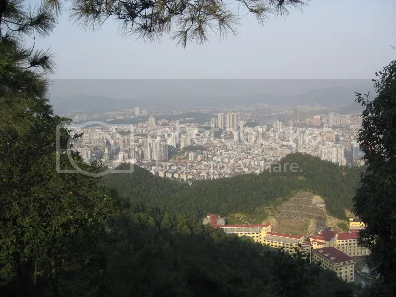 City of Liuyang from Xihu Mountain