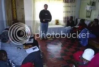 John Diamantis teaching at Mamelodi