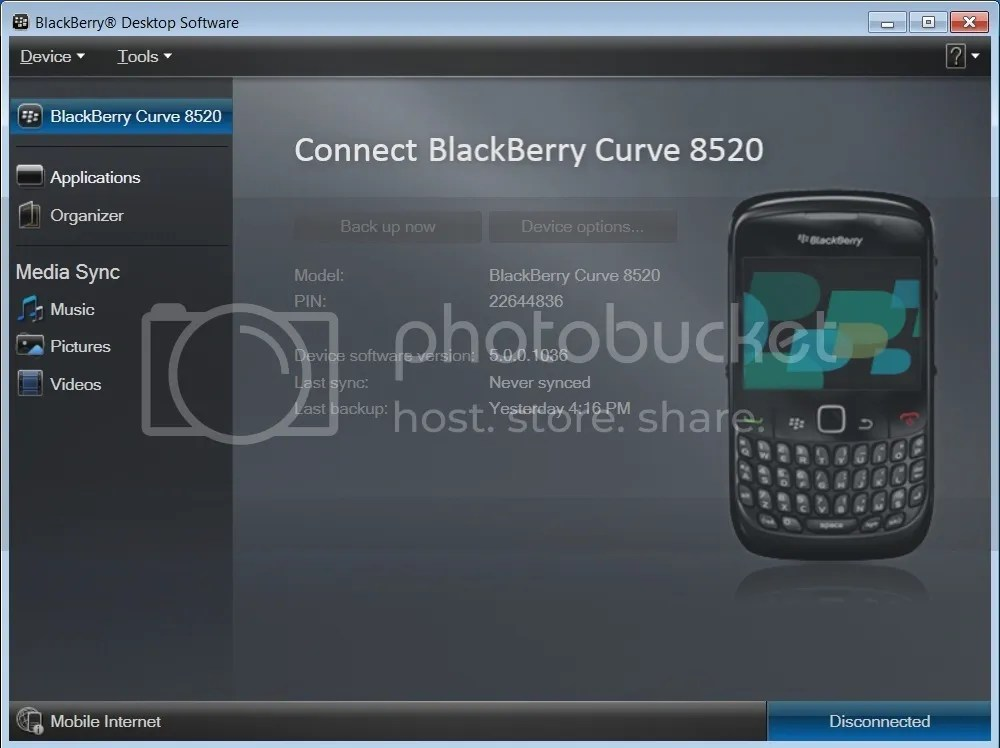 Software versions updates: BlackBerry Cur T-Mobile
