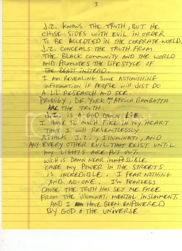 Prodigy'S Letter From Jail