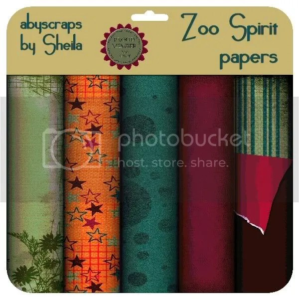 abyscraps Zoo Spirit papers
