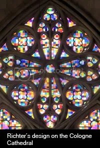 Gerhard Richter\'s Design on Cologne Cathedral