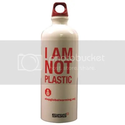 SIGG I AM NOT A PLASTIC water bottle