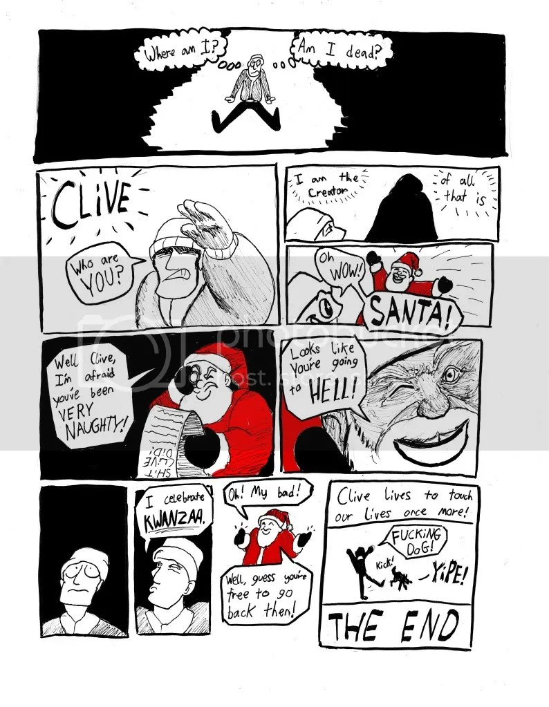 Clive the Colossal Cockbite page three