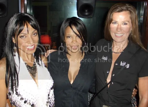 Victoria Vives with SuperStar Dawn Robinson and Jane M Hepburn