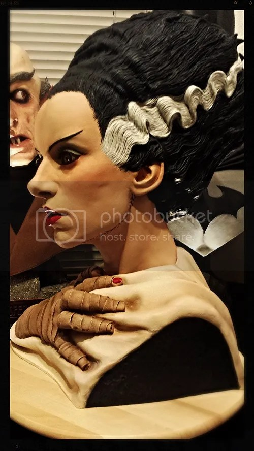 Bride of Frankenstein Life Size Bust