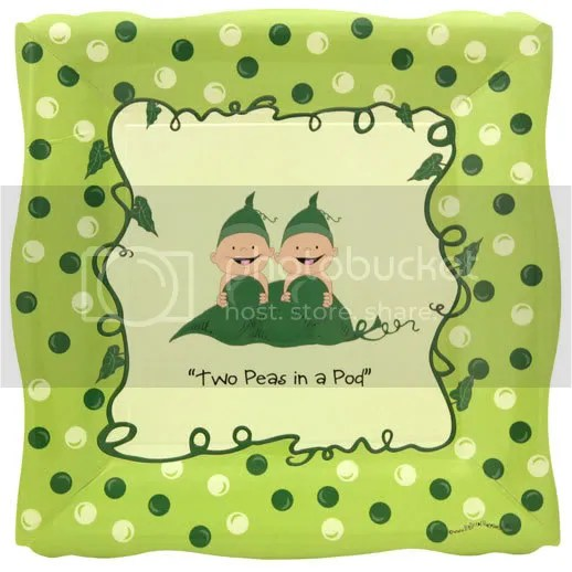 9 Dinner Plate in Two Peas In a Pod theme