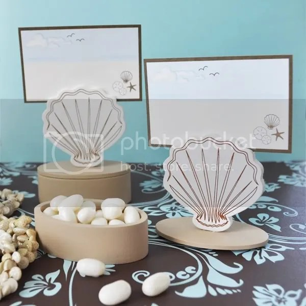 Seashell Beach Theme Place Card Favor Box