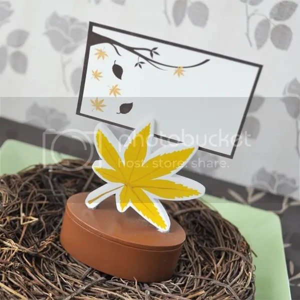 Fall Leaf Place Card Holder Favor Box