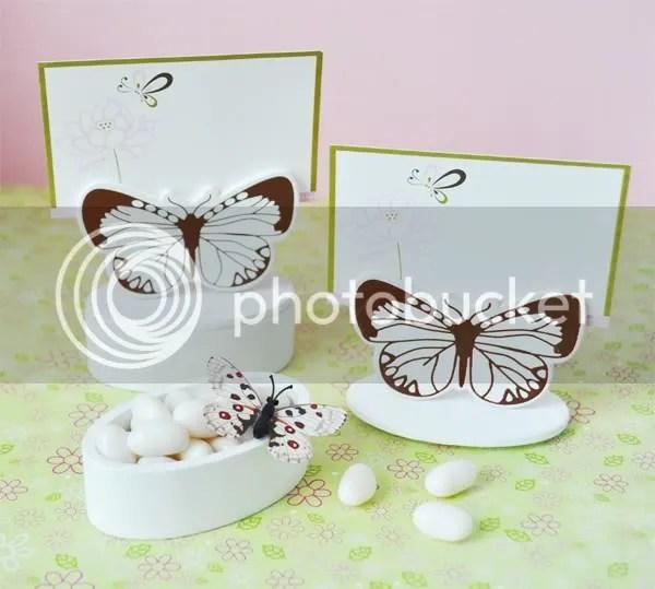 Butterfly Garden Place Card Holder Favor Box