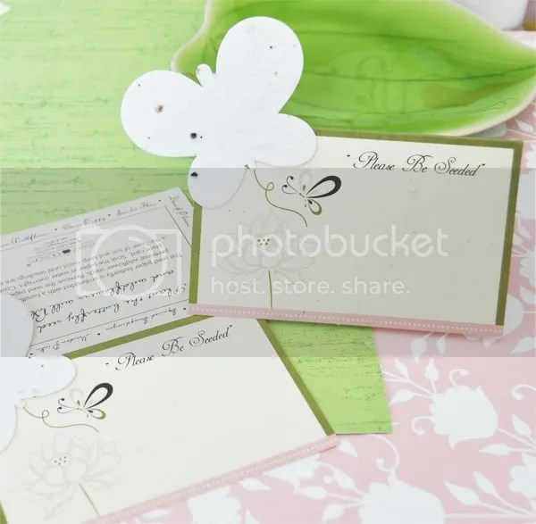 Butterfly Garden Place Card/Plantable Seed Favor