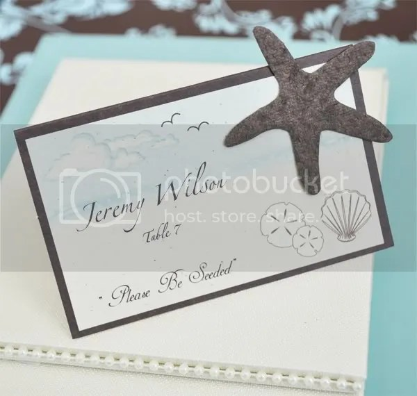 Sea Side Starfish Place Card/Plantable Seed Favor