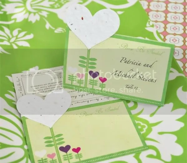 Heart Felt Place Card/Plantable Seed Favor