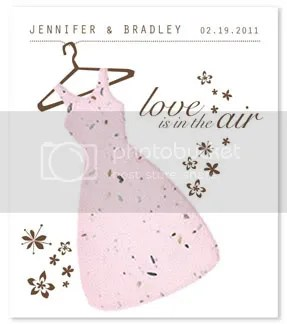 Love is in the Air Personalized Wedding Gown Plantable Seed Favors
