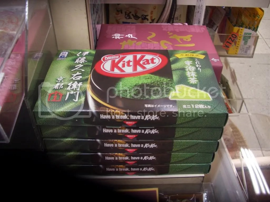 A special kind of Green Tea flavor thats Kyoto limited edition