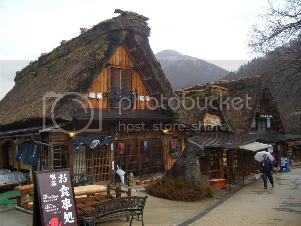 Even the restaurants and souvenir shops are gassho zukuri style buildings