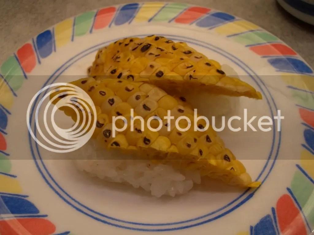 corn sushi