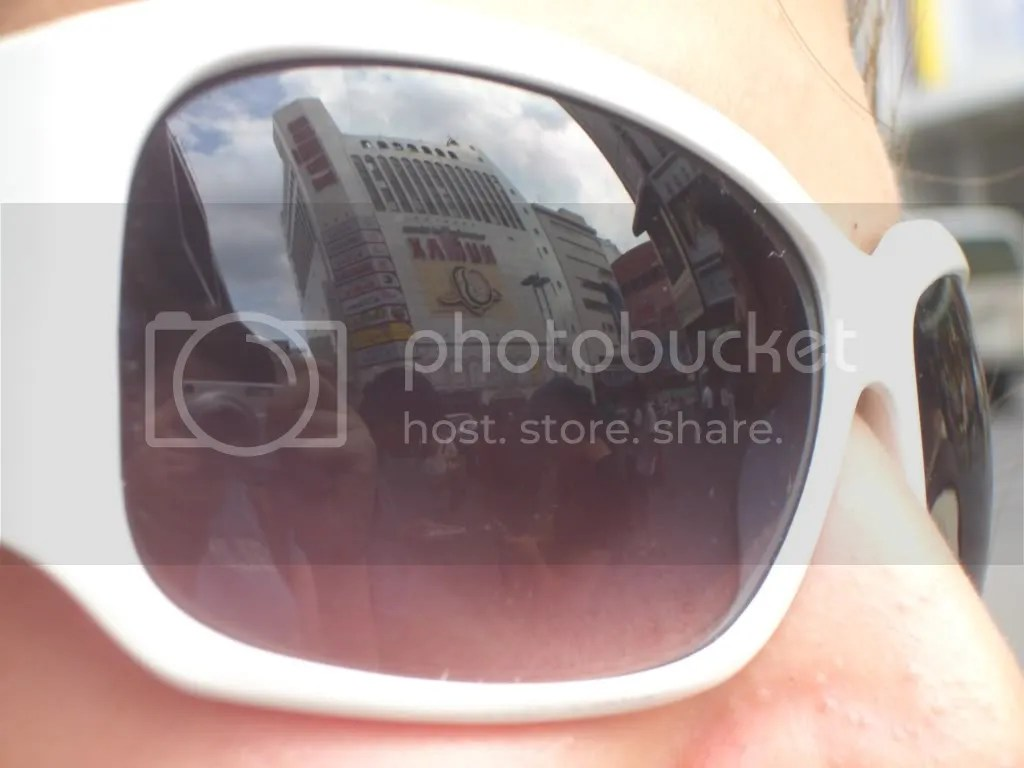 Reflection on sunglasses