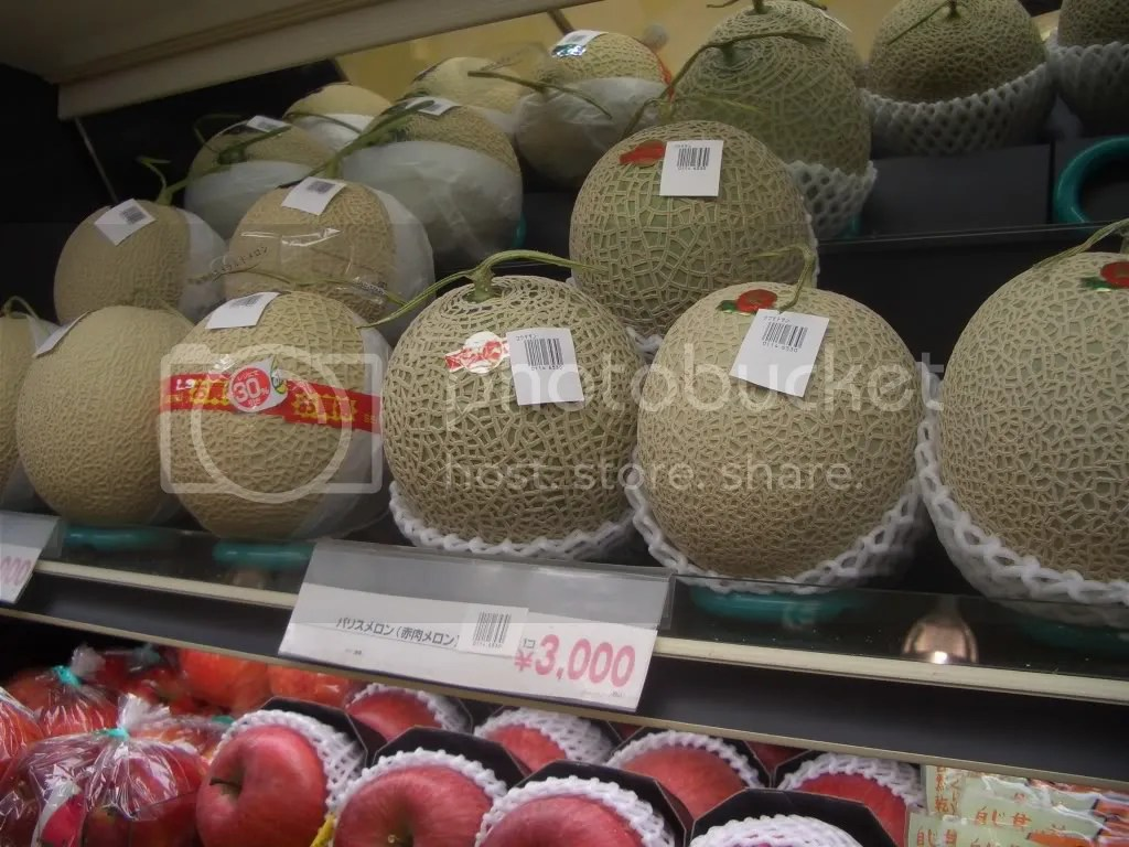 3,000 yen a melon. (about $34)