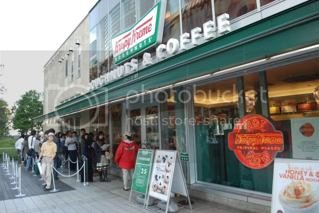 Krispy Kreme donuts! Theys really popular here. People queue up for ages to buy them.