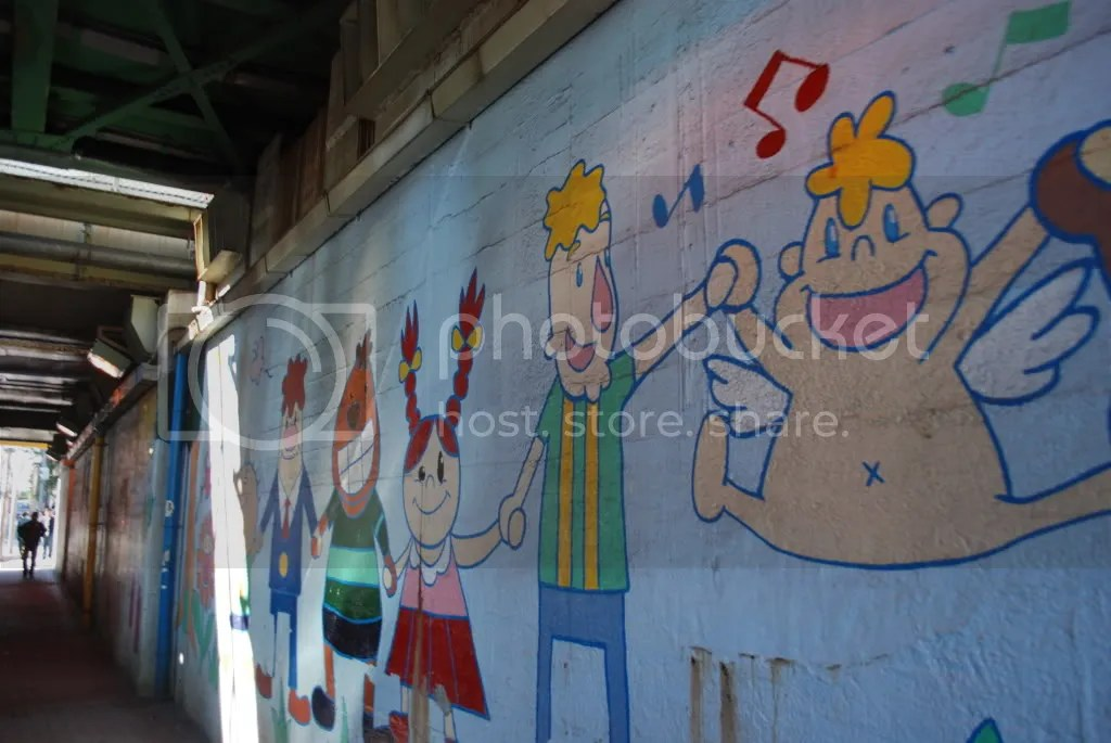 A mural near the station